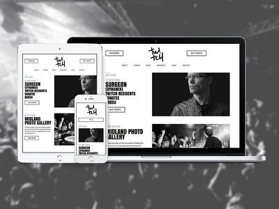 Tw!tch Belfast wordpress minimal belfast dj music house techno design clean web design ux ui