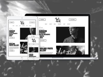 Tw!tch Belfast wordpress minimal belfast dj music house techno design clean web design ux ui