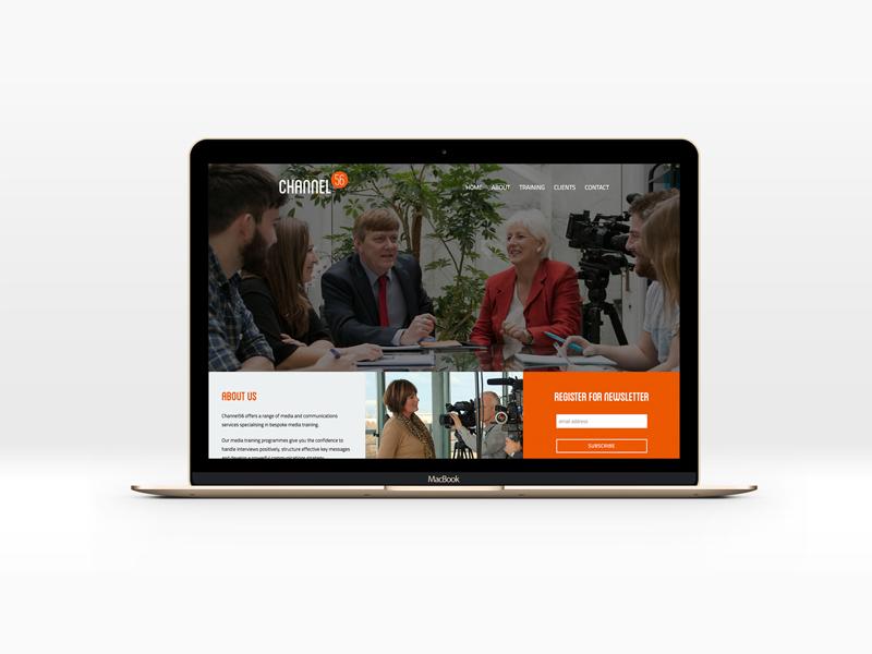 Channel56 design belfast media training wordpress ux ui responsive website