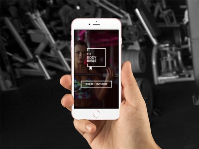 Fit Body Bible ux ui responsive website gym fitness ecommerce