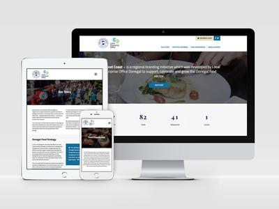 The Food Coast responsive web design ux website food wordpress