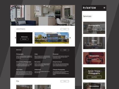 PHANTOM real estate responsive website property wordpress web design ux ui