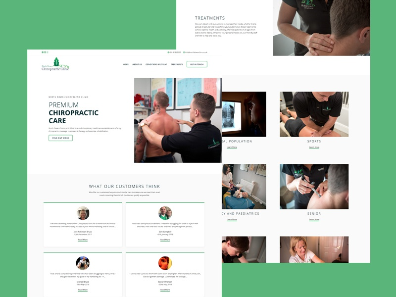 North Down Chiropractic Clinic chiropractic web design wordpress website ui ux