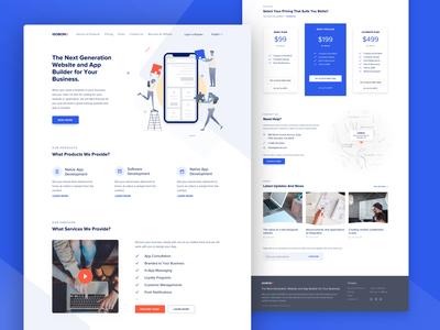 App Builder Website - Landing Page