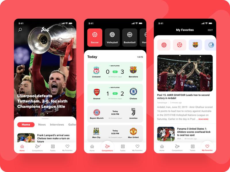 Sport News App champion news app espn app news basketball volleyball soccer sport