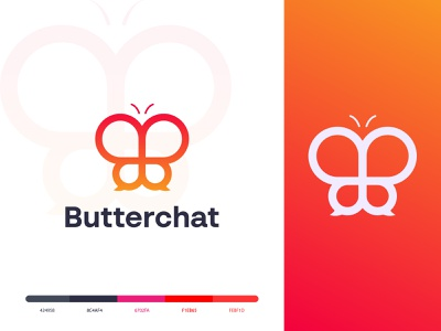 Butterfly chat Logo | Butterfly Talk Logo | Butterfly logo creative logo typography logoinspirations logodesigner logos logodesign logo gradient logo letter logo app icon app brand identity modern logo logo trends 2021 abstract