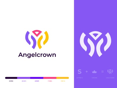 crown logo  |  S letter logo  |  S  + crown logo angel princess queen king crown typography logoinspirations logodesigner logos logodesign logo gradient logo letter logo brand identity modern logo abstract s letter mark s monogram s logo s letter