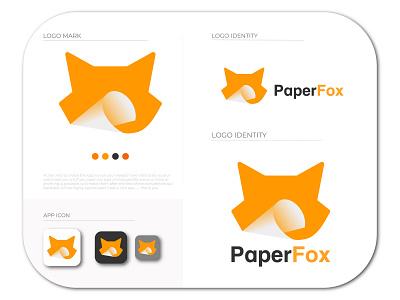 Fox And Paper Logo | Fox Logo Template | Fox Logo logo trends 2021 paper logo mascot paper animal logo fox logo modern logo wolf logo designer brand identity logo logotype app icon papercraft papercut foxy fox illustration