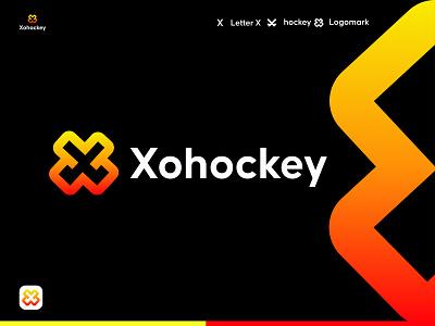 Hockey Stick Logo  | Sports logo | x modern logo branding brand identity x logo letter app icon abstract modern logo ecommerce logos logo gaming logo sports esports logo sports branding hockey stick logo startup symbol vector design logodesign