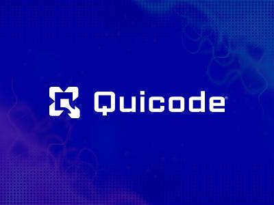 LETTER  Q  +  ARROW   +  CODE | Quicode logo  concept logo coding programming developer tech technology it fintech finance code identity branding letter mark monogram letter q blockchain brand identity logodesigner ecommerce logos arrows logo design