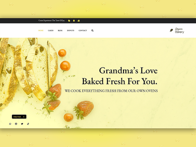 Bakery Landing Page Design | Bakery UI Design color clean creative custom website ui design website love bread fruit black yellow bakery bakery website bakery landing page custom landing page bakery ui
