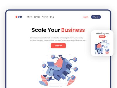 Home Page website ux ui design design dailyuichallenge