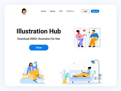 Hero Page graphic design