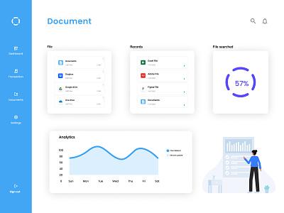 File Manager Dashboard illustration ux ui design design dailyuichallenge ui