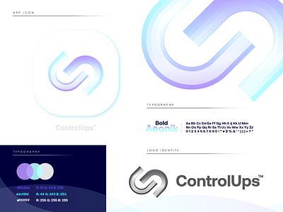 ControlUps purple design gradient logodesign technology logo design logo