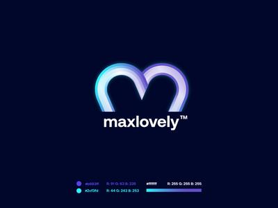 maxlovely startup purple design letter gradient modern logodesign technology logo design logo