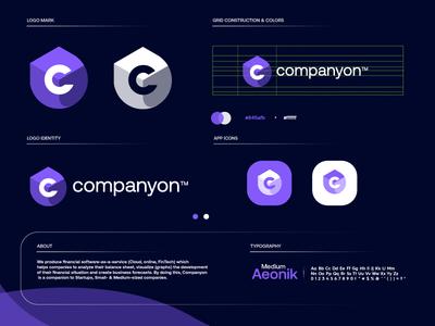 C logo v2 purple blue design letter gradient modern logodesign technology logo design logo