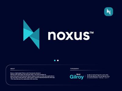 noxus blue design letter gradient modern logodesign technology logo design logo