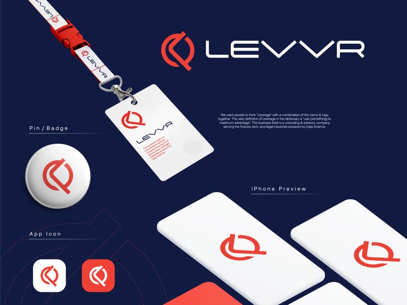 Levvr logo modern startup technology logo design logo