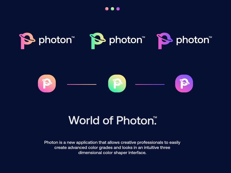 Photon - logo photography photo branding gradient modern technology logo design logo