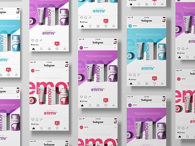 Social Media preview - Instagram instagram acne skincare startup modern technology logo design logo