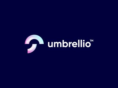 umbrellio umbrella design startup technology logo design logo