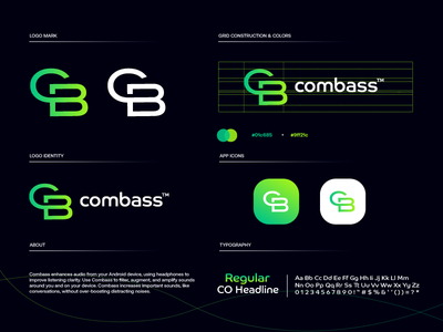 combass branding green startup design gradient modern logodesign technology logo design logo