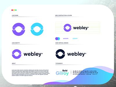 Webley startup letter design gradient modern technology logo design logo