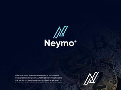 Neymo cryptocurrency crypto payment logodesign modern technology logo design logo