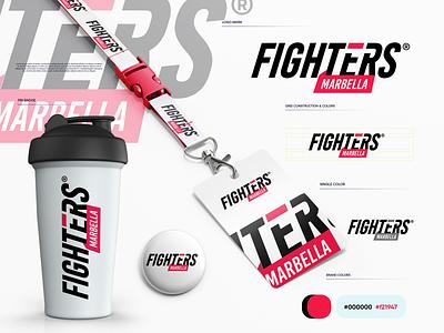 Fighters Gym fitness gym gradient logodesign modern technology logo design logo