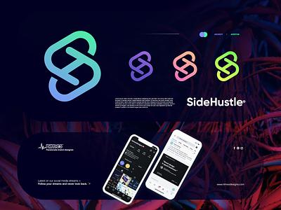 SideHustle branding ui design gradient logodesign modern technology logo design logo