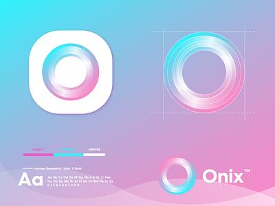 Onix gradient technology logo design logo