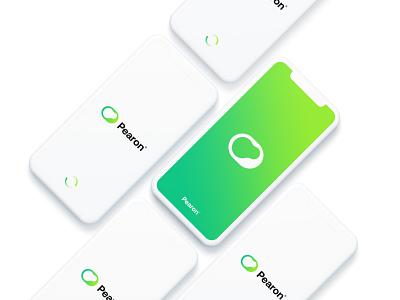Pearon loading screen app design green loading app technology logo design logo