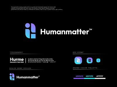 Humanmatter people rights human logo design logo