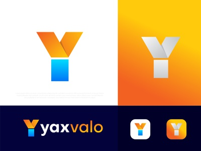 Modern Y letter logo yaxvalo । v logo brand identity modern logo business corporate app icon logo icon symbol logo mark logo designer best logo designer portfolio logotype branding brand identity design typography abstract gradient illustration logo v y logo