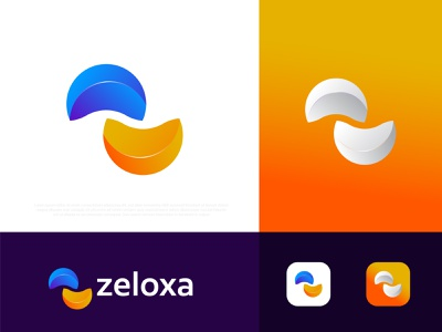 Modern Z letter logo zeloxa brand identity branding logo agency abstract technology logos logo design creative negative flat graphic design logo designer a b c d e f g h i j k l m n o p q r s t u v w x y z colorful z logo modernism popular vectors app icon
