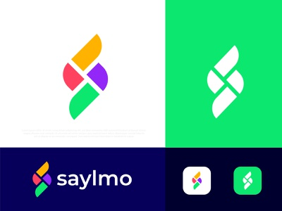 Modern S letter logo design for saylmo s logo s logo illustration gradient abstract typography brand identity design branding logotype best logo designer portfolio logo designer logo mark logo icon symbol app icon corporate business modern logo technology creative logo