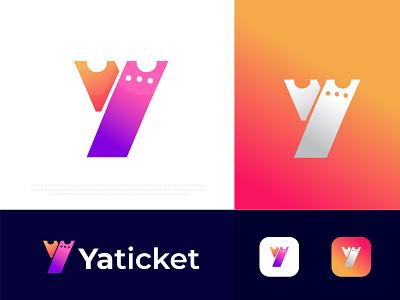 Modern (K+ticket) logo for Yaticket logo logotype brand identity branding logo agency abstract technology logos logo design ticket creative logo designer a b c d e f g h i j k l m n o p q r s t u v w x y z colorful pattern modernism popular app icon typography logodesign