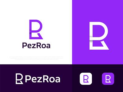 (P+R) Modern Letter mark logo for PezRoa modern logo r r logo p logodesign typography app icon n o p q r s t u v w x y z a b c d e f g h i j k l m logo designer logo design logos technology abstract logo agency branding brand identity logotype logo