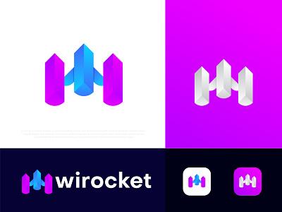 Modern W letter logo design wirocket modern logo design rocket logo w logo plan logo gradient abstract typography branding logotype logo designer logo mark symbol app icon corporate business modern logo technology brand identity