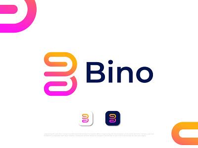 Modern minimalist B letter logo for Bino b