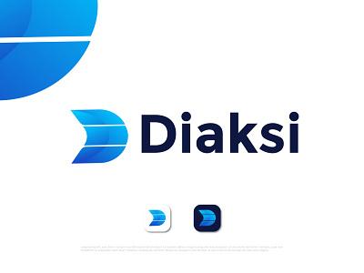 Modern D letter logo for Diaksi business agency modern logo maker d d mark d logo letter logo graphic design animation ui logo illustration design logo designer abstract typography brand identity logotype branding