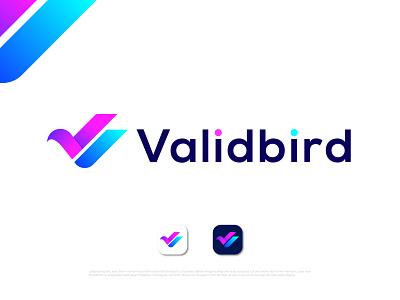 Modern abstract v+brid logo concept creative v logo bird logo v icon v letter v logo illustration logo design logo designer abstract typography brand identity logotype branding