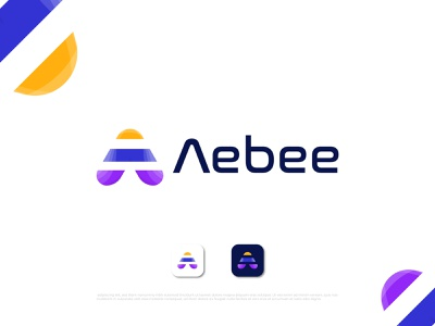 Modern a+ bee letter logo design for Aebee bee icon bee mark bee letter logo bee logo a a letter a logo ui illustration logo design logo designer abstract typography brand identity logotype branding