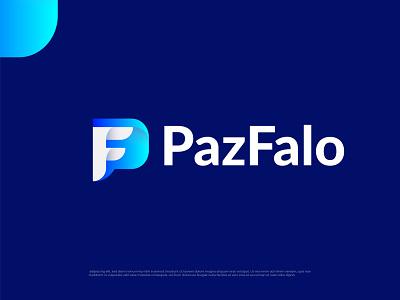Modern P+F logo design illustration logo design logo designer abstract typography brand identity logotype branding