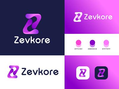 Branding Logo Design for Zevkore best designer logo identity logo maker modern z letter logo z mark z logo company business internet digital design logo logo designer typography abstract brand identity logotype branding