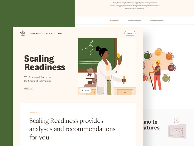 Scaling Readiness Website science crops scaling innovation illustration ux ui responsive design interface