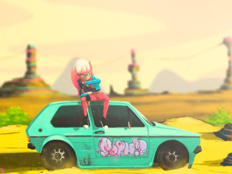Sophie worldart artinsanely madeinmexico artsy digitalart art sketch hipster pink girl photoshop artwork ilustración
