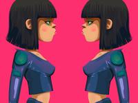 Neon Badass Girl