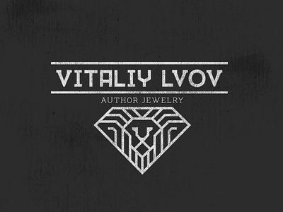 Vitaliy Lvov: author jewelry diamond brand logo logotype lion author jewelry